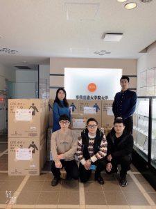 事業創造大学院大学「中国留学生学友会」の救援物資寄贈活動が新潟日報に掲載されました