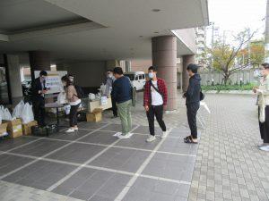 フードバンクにいがた様より本学外国人留学生へ食料支援をいただきました